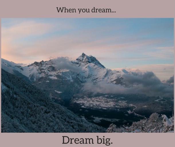 When you dream...